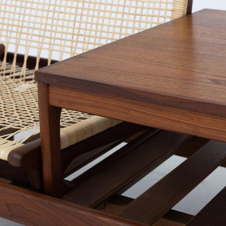 Modular Set in teak and new cane by Hans Olsen In Good Condition For Sale In Copenhagen, DK