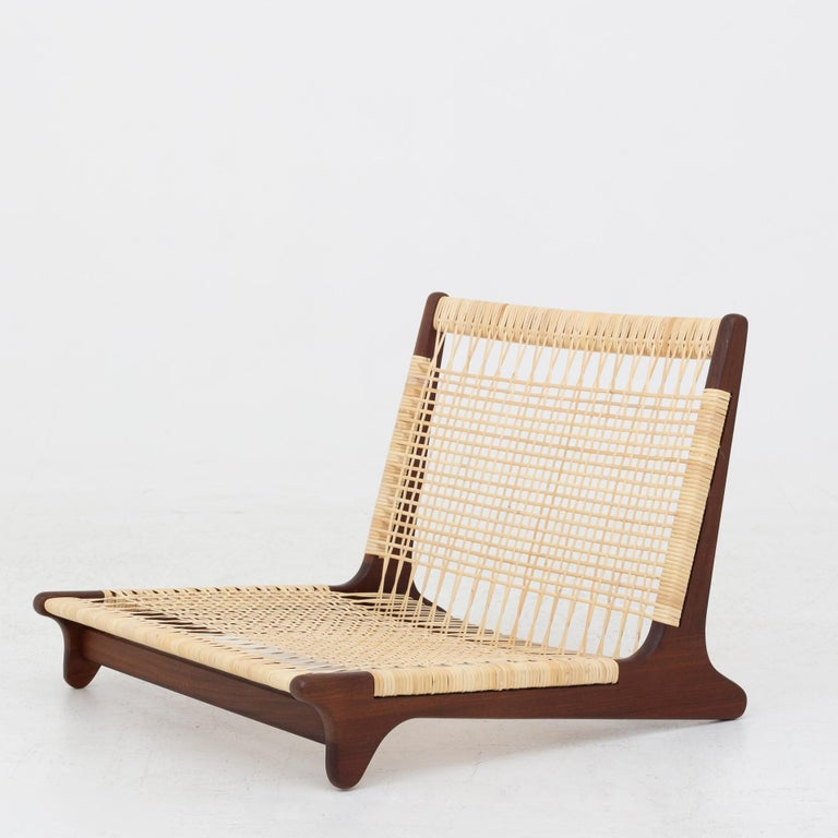 Modular Set in teak and new cane by Hans Olsen For Sale 1