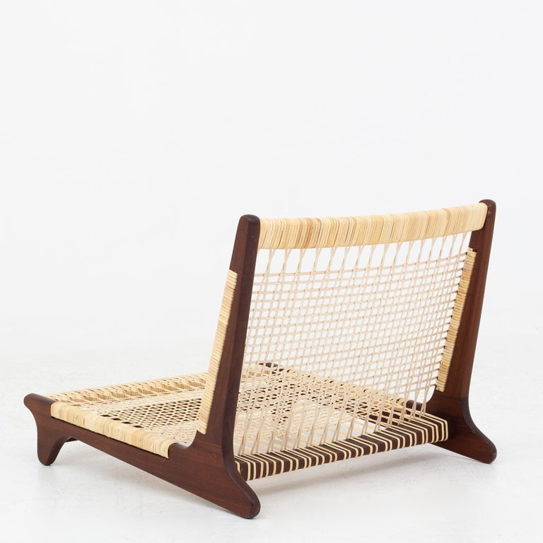 Modular Set in teak and new cane by Hans Olsen For Sale 2