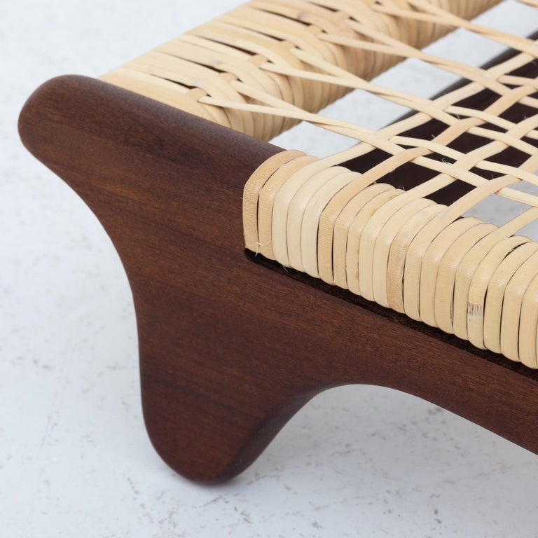Modular Set in teak and new cane by Hans Olsen For Sale 3
