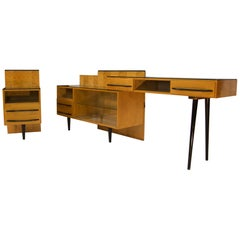 Modular Set of Table, Nightstand and Chest of Drawers by M. Pozar, 1960s