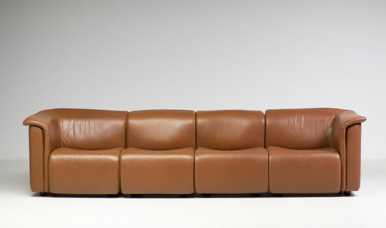 This is a modern Classic named Hochbarett is designed by Karl Wittmann. This modular sofa consists of four elements which can be placed in several configurations. Wittman Moebelwerkstaetten is known for their exceptional quality and