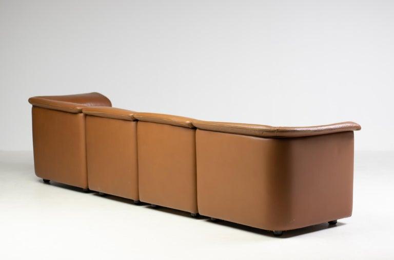 Leather Modular Sofa by Wittmann Moebelwerkstaetten For Sale