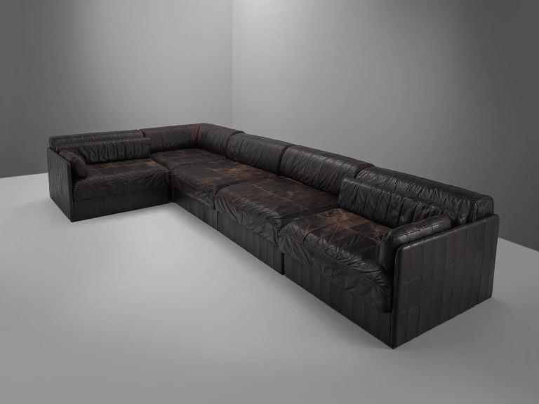 Post-Modern Modular Sofa Leather for De Sede For Sale