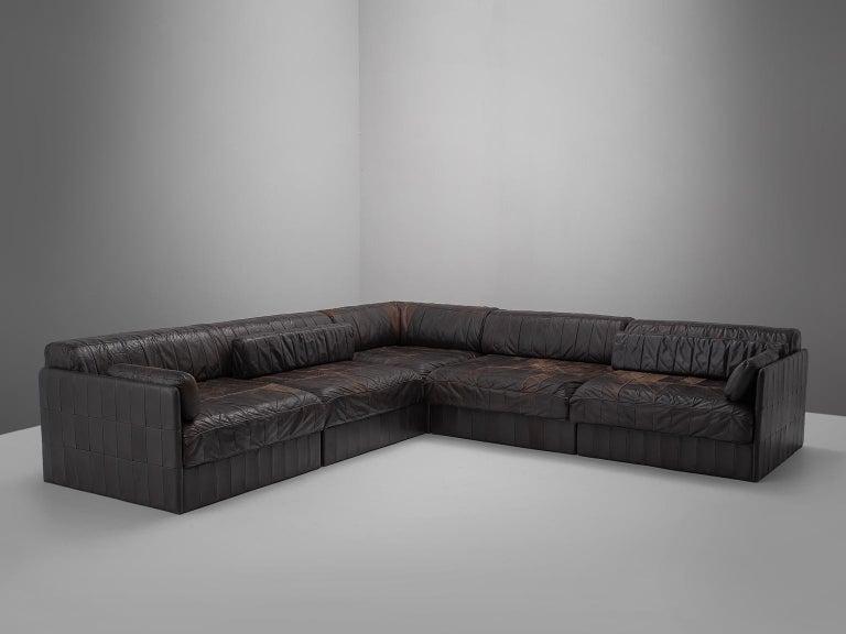 Swiss Modular Sofa Leather for De Sede For Sale
