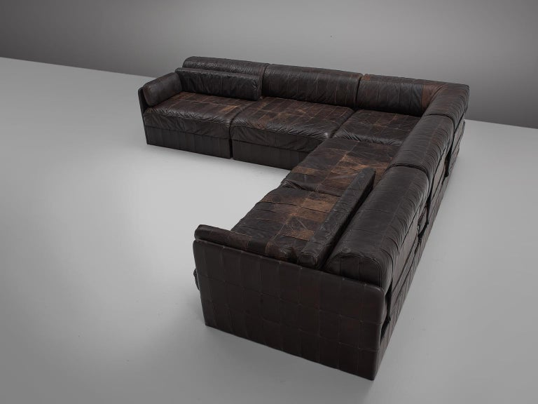 Modular Sofa Leather for De Sede In Good Condition For Sale In Waalwijk, NL
