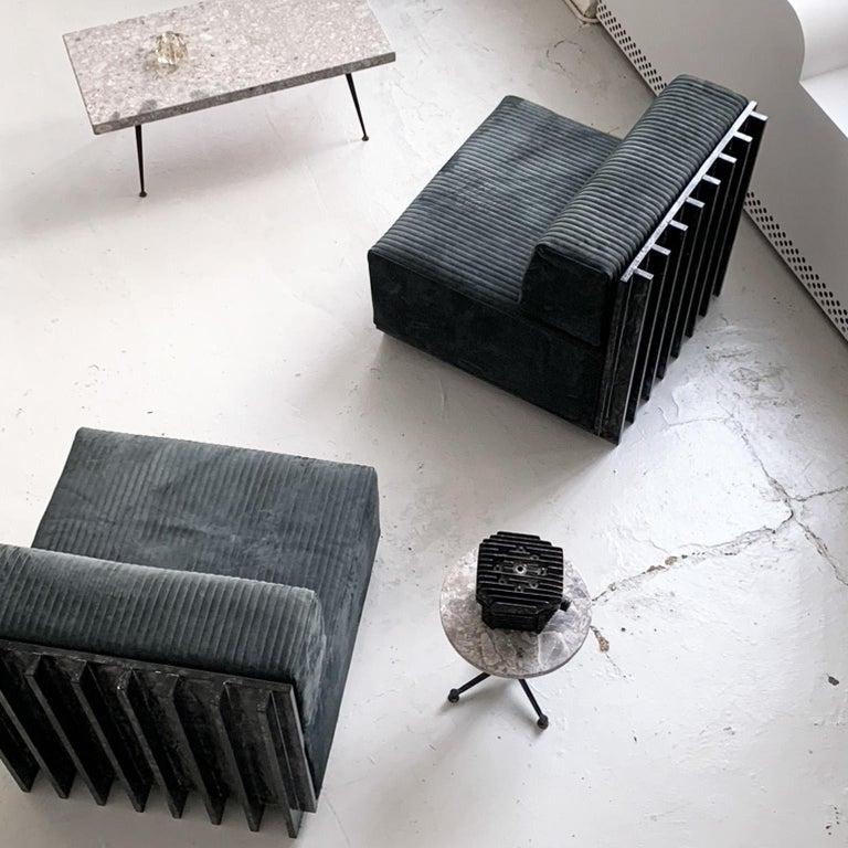 Spinzi Design Modular Sofa Leather Seat Armchair Lame' For Sale 9
