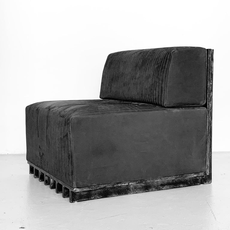 Spinzi Design Modular Sofa Leather Seat Armchair Lame' For Sale 10