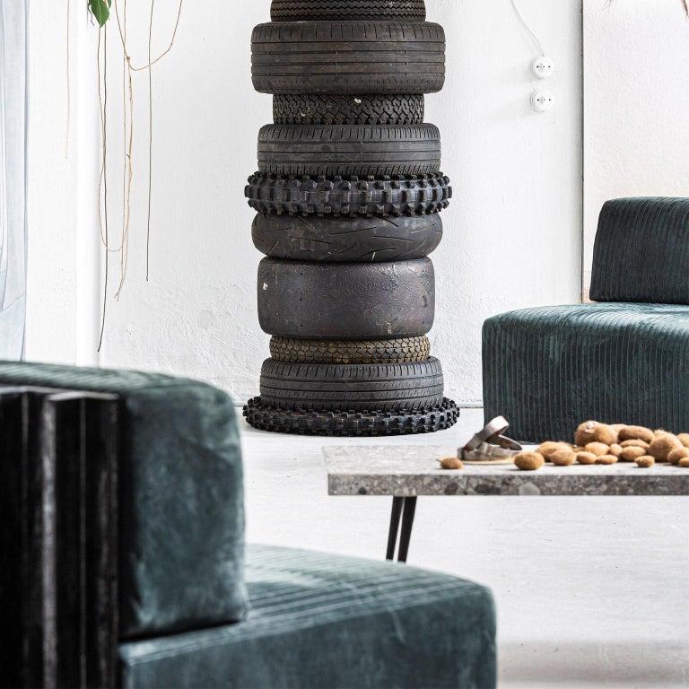Spinzi Design Modular Sofa Leather Seat Armchair Lame' For Sale 2