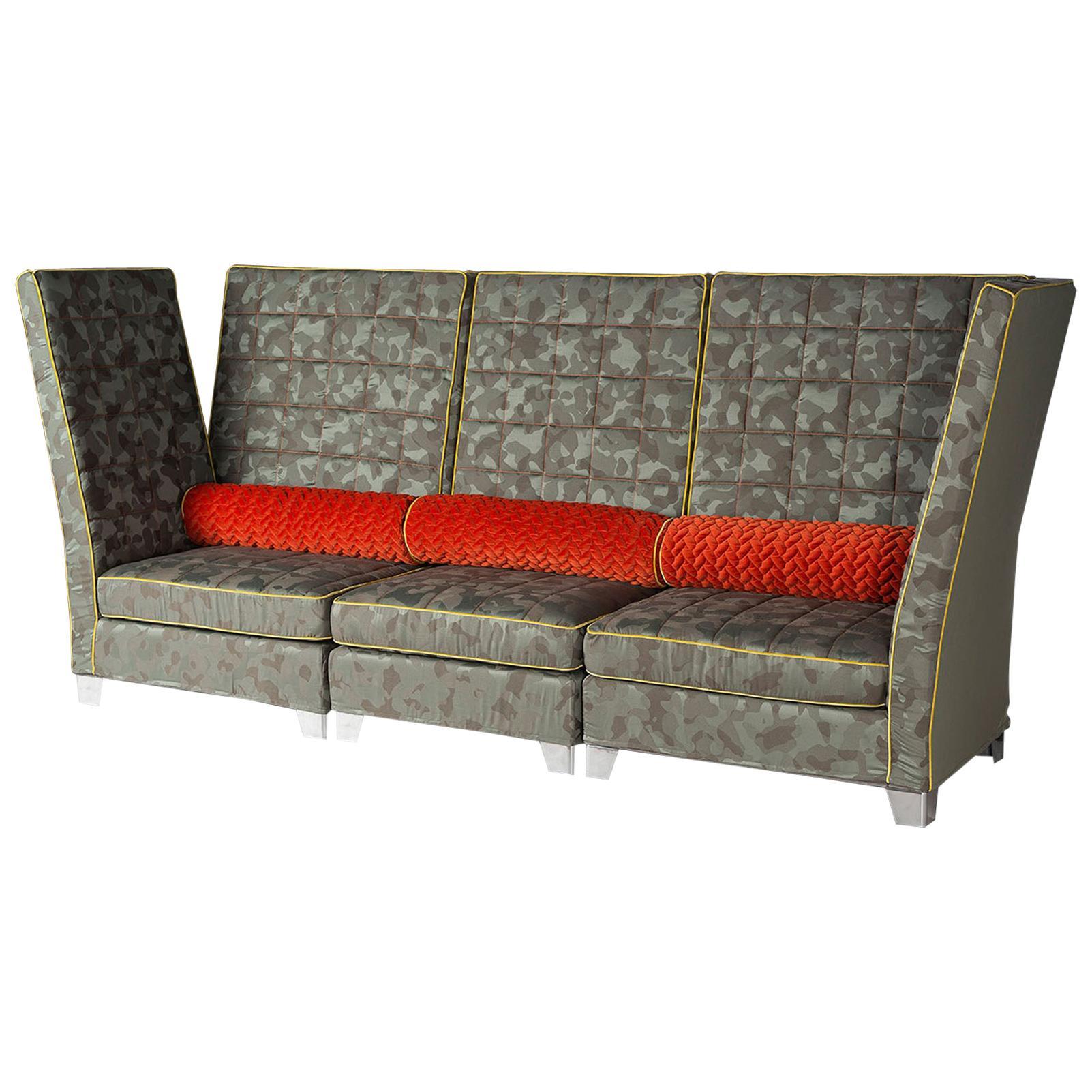Modular Sofa Tosca, Rubelli Fabric, Made in Italy
