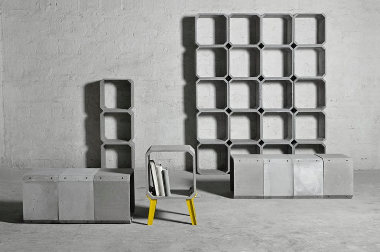 'KOU' is a modular storage made of concrete