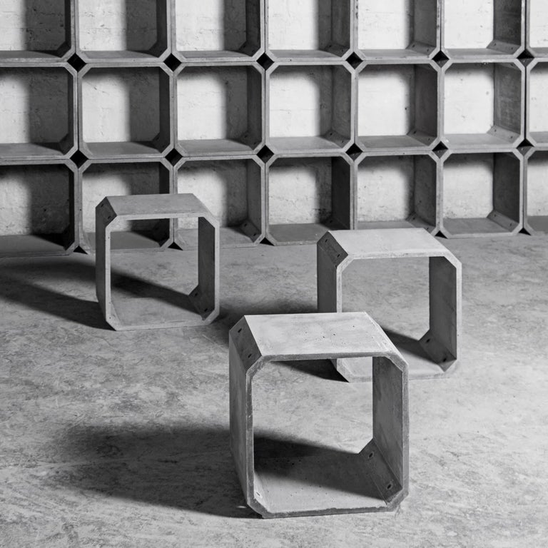 Industrial Modular Storage 'KOU' Made of Concrete For Sale