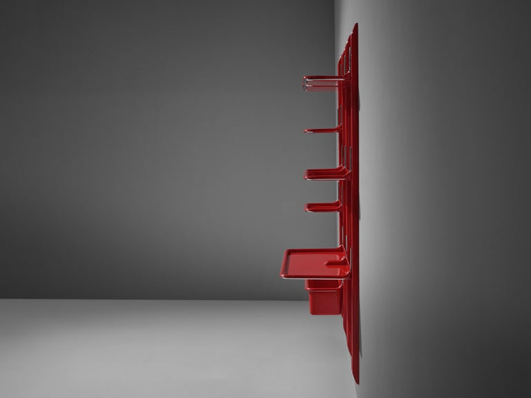 Modular Wall-Unit 'Speedy' in Red by Alberto Rosselli In Good Condition For Sale In Waalwijk, NL