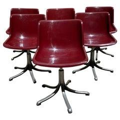 Modus Chairs by Osvaldo Borsani for Tecno, 1970s, Set of 6