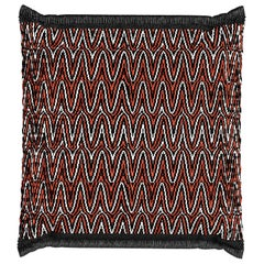 Mody Orange Large Outdoor & Indoor Cushion, Modern Luxury Polypropylene Pillow