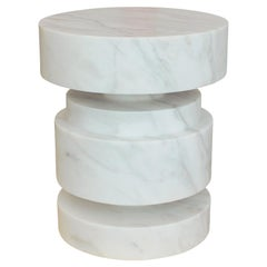 Mogador Solid Marble Side Table