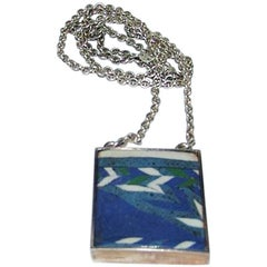 Mogens Bjorn-Andersen Sterling Silver Pendent with Large Stone