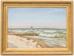 Ships Off Bornholm, Marine Painting