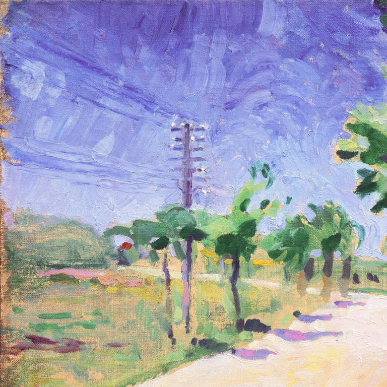 Sunny Afternoon  (Post-Impressionism, Danish, Landscape, Blue, Green) For Sale 1