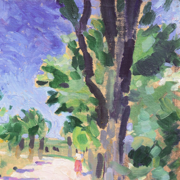 Sunny Afternoon  (Post-Impressionism, Danish, Landscape, Blue, Green) For Sale 2