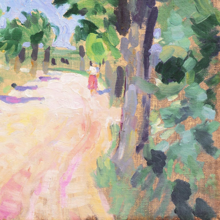 Sunny Afternoon  (Post-Impressionism, Danish, Landscape, Blue, Green) For Sale 3