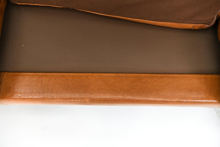 Mogens Hansen Brandy Color Leather Sofa For Sale 5