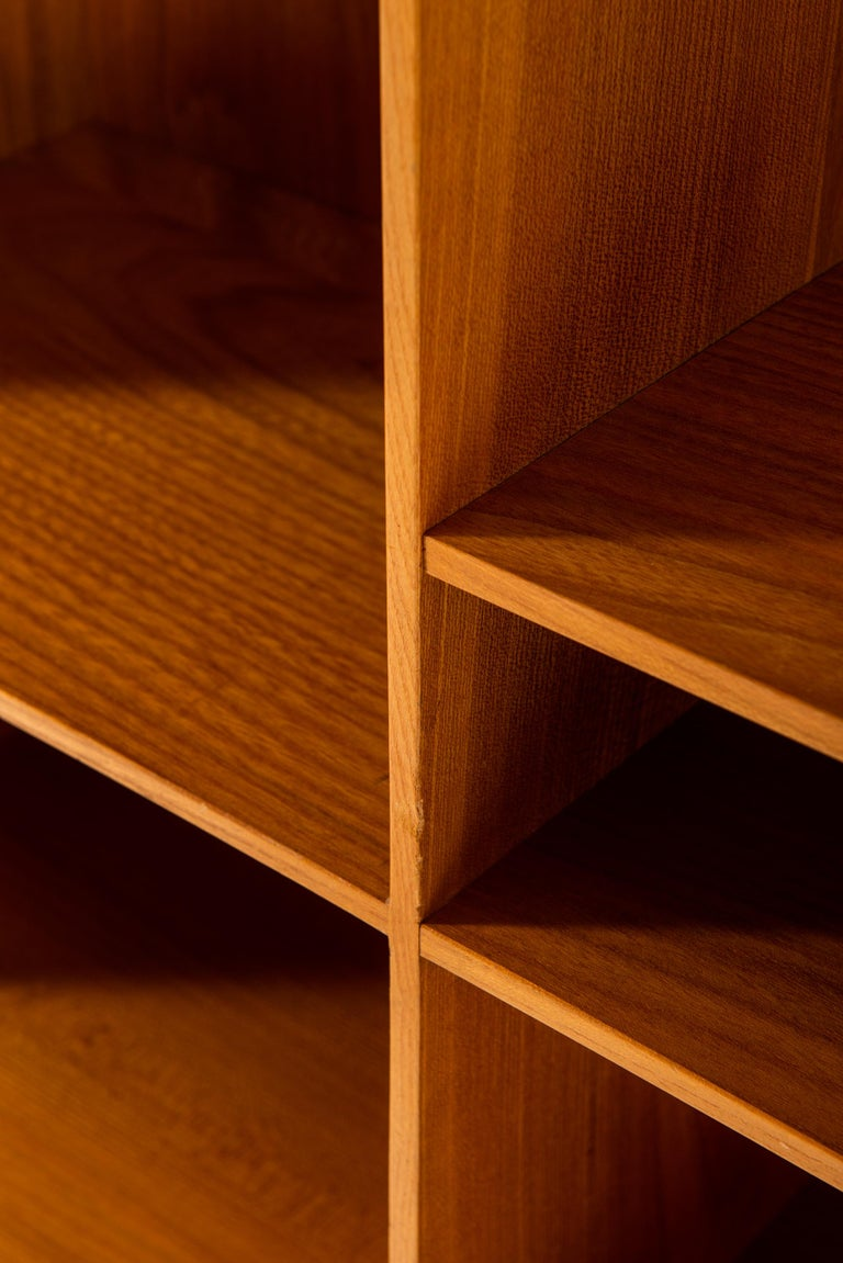 Mogens Koch Bookcases in Elm Produced by Rud Rasmussen in Denmark For Sale 4