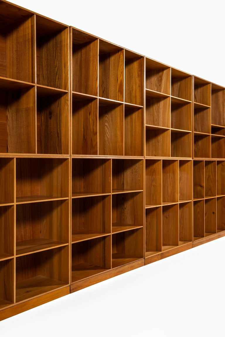 Mogens Koch Bookcases in Elm Produced by Rud Rasmussen in Denmark For Sale 5