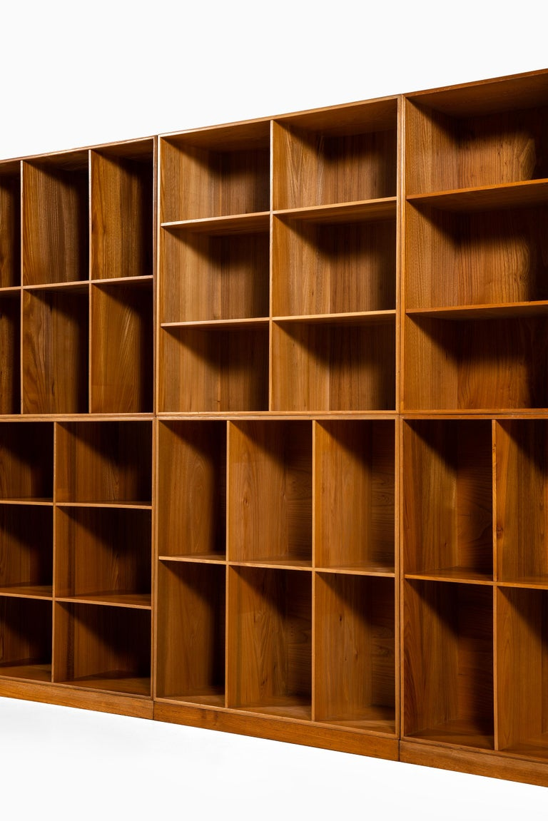 Scandinavian Modern Mogens Koch Bookcases in Elm Produced by Rud Rasmussen in Denmark For Sale