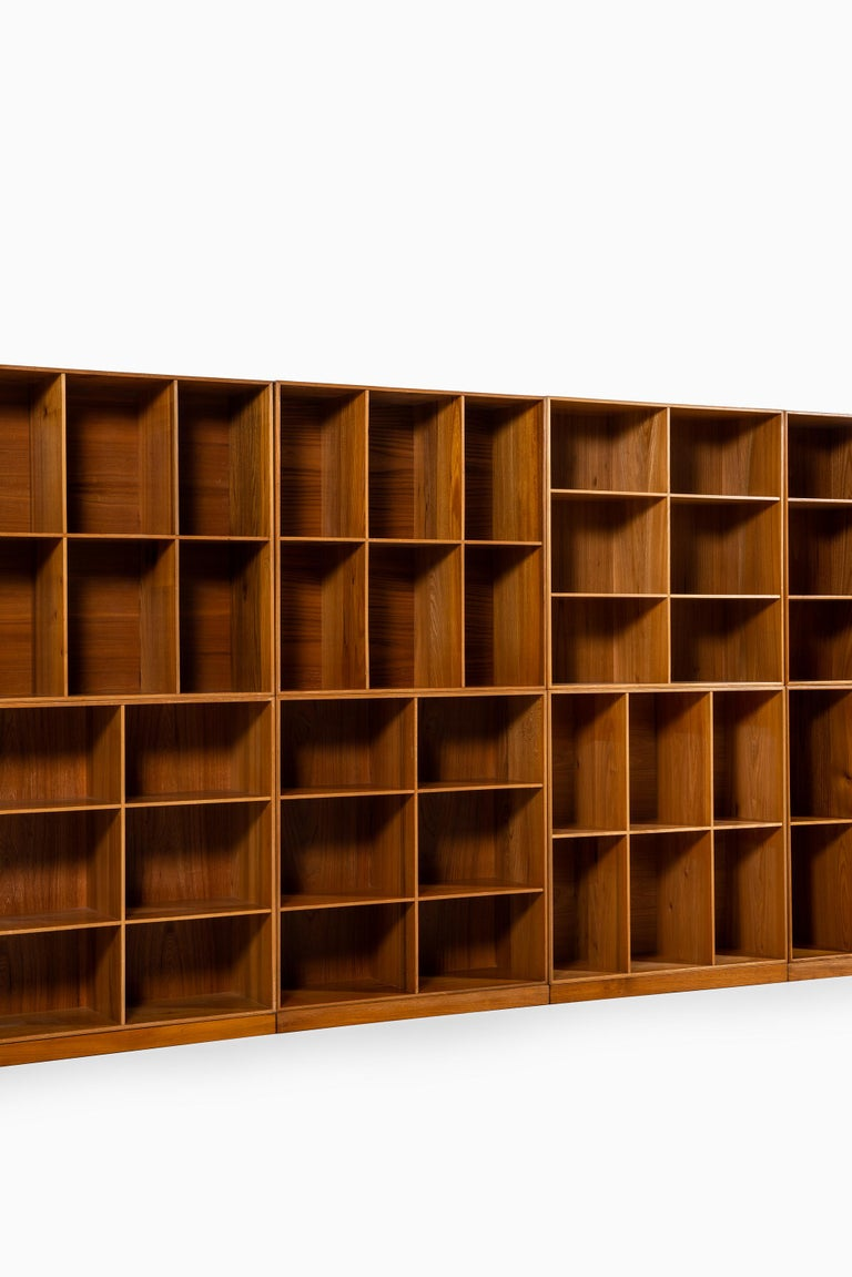 Mogens Koch Bookcases in Elm Produced by Rud Rasmussen in Denmark In Good Condition For Sale In Malmo, SE