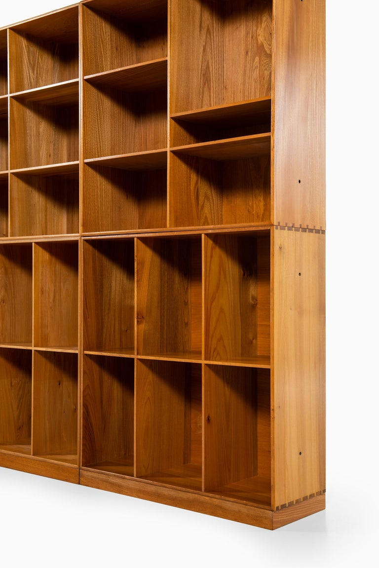 Mogens Koch Bookcases in Elm Produced by Rud Rasmussen in Denmark For Sale 2