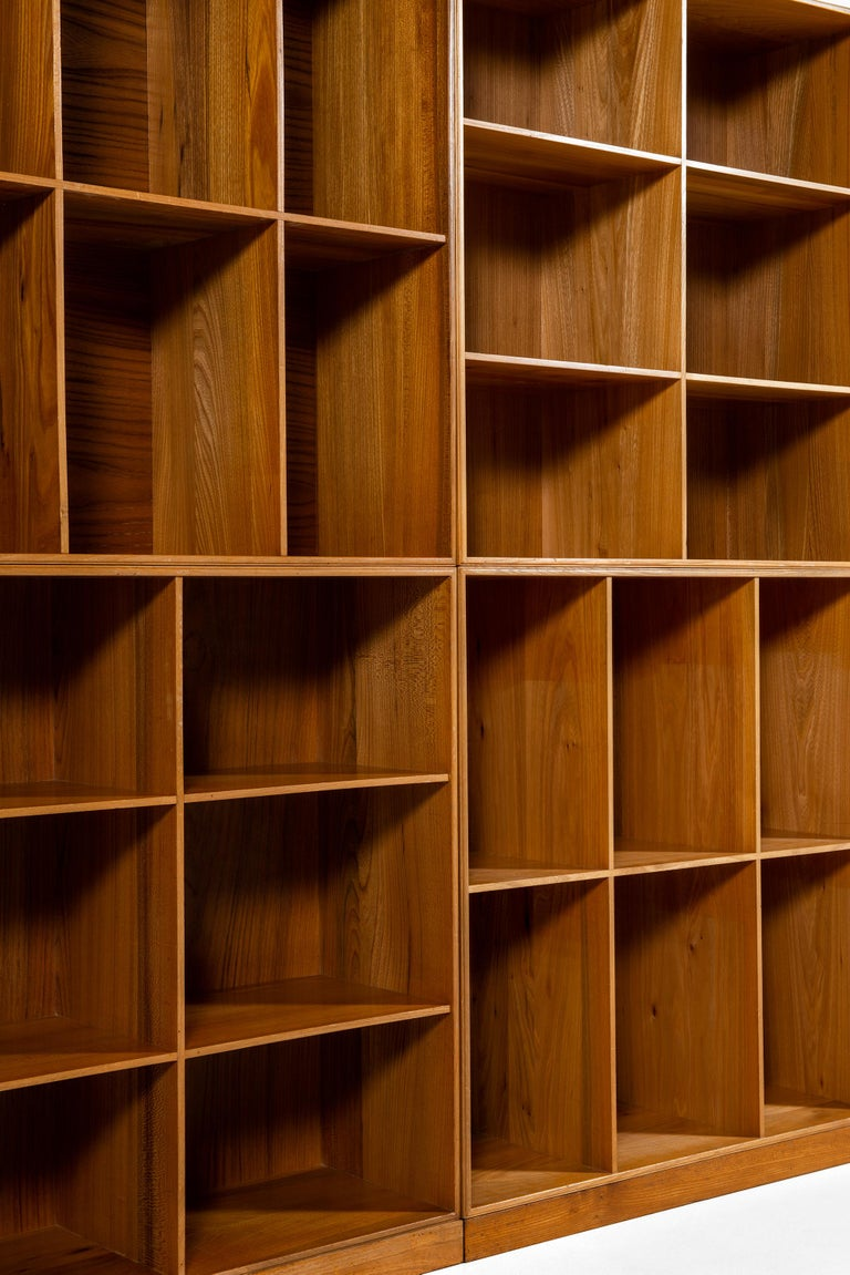 Mogens Koch Bookcases in Elm Produced by Rud Rasmussen in Denmark For Sale 3