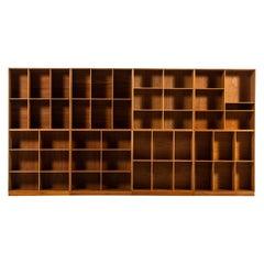 Mogens Koch Bookcases in Elm Produced by Rud Rasmussen in Denmark