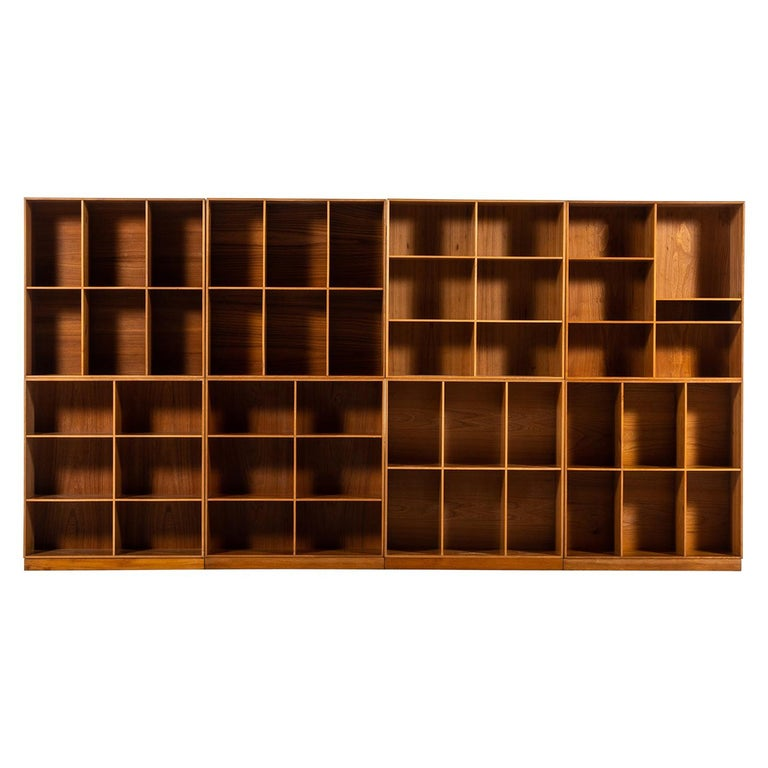Mogens Koch Bookcases in Elm Produced by Rud Rasmussen in Denmark For Sale