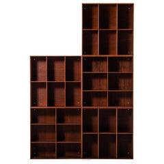 Mogens Koch Bookcases in Teak Produced by Rud Rasmussen in Denmark