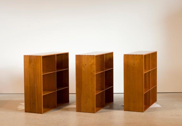 Scandinavian Modern Mogens Koch Bookcases of Pine for Rud. Rasmussen For Sale