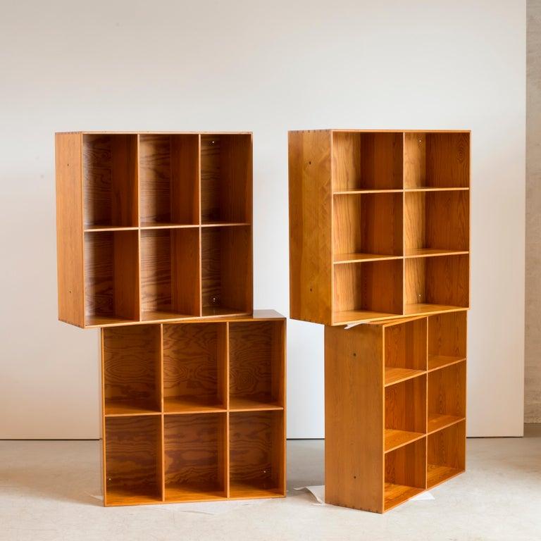 Danish Mogens Koch Bookcases of Pine for Rud. Rasmussen For Sale