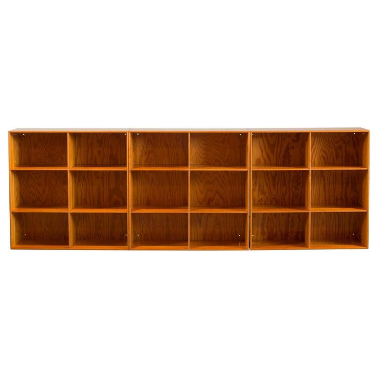 Mogens Koch Bookcases of Pine for Rud. Rasmussen For Sale
