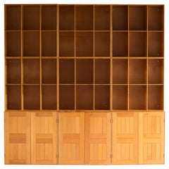 Mogens Koch Library in Oregon Pine for Rud Rasmussen