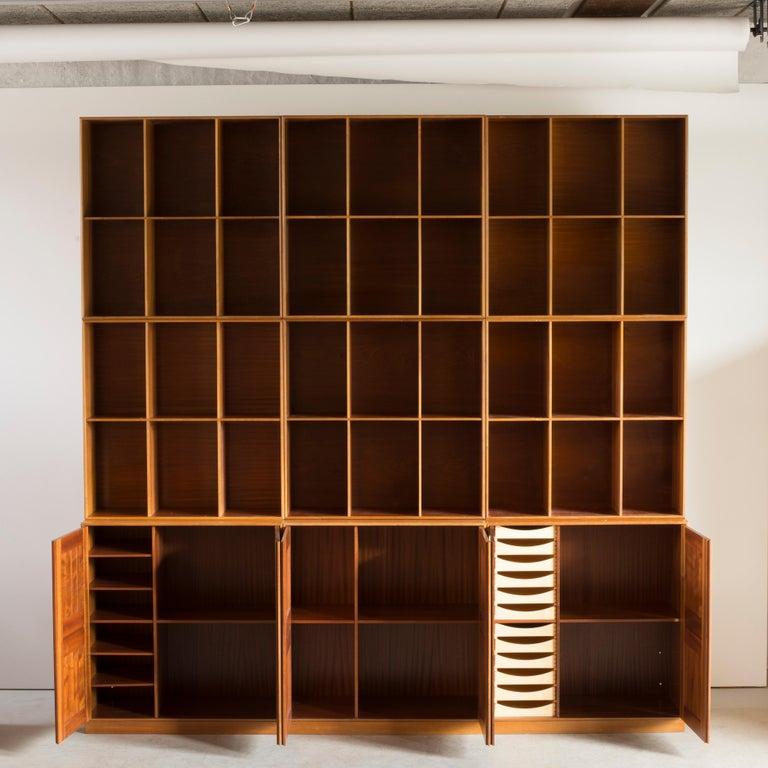 Scandinavian Modern Mogens Koch Library of Mahogany for Rud Rasmussen For Sale