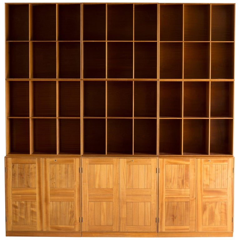 Mogens Koch Library of Mahogany for Rud Rasmussen For Sale