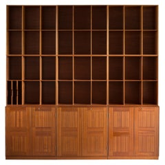 Mogens Koch Library of Mahogany for Rud Rasmussen