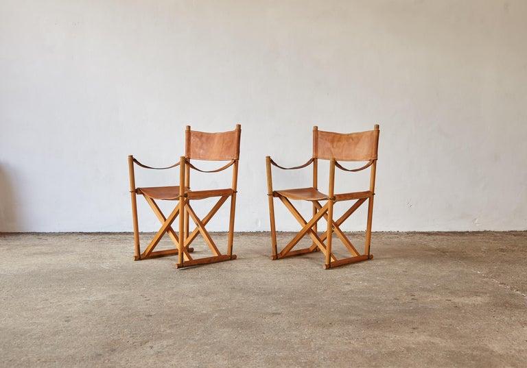Mogens Koch MK-16 Directors / Safari Chairs, Rud Rasmussen, Denmark, 1960s For Sale 3