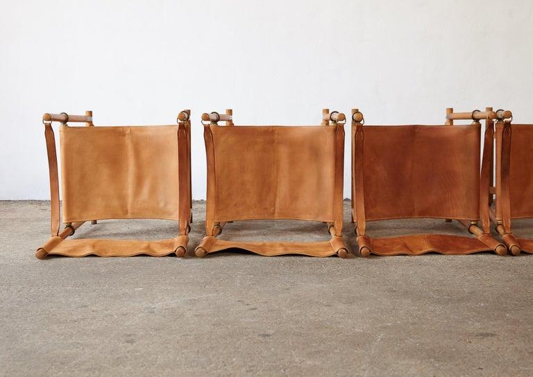 Mogens Koch MK-16 Directors / Safari Chairs, Rud Rasmussen, Denmark, 1960s For Sale 4