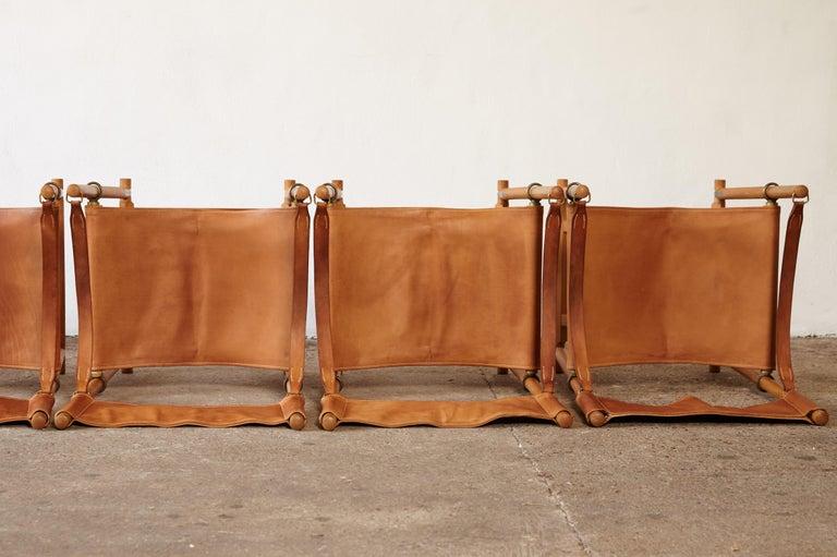 Mogens Koch MK-16 Directors / Safari Chairs, Rud Rasmussen, Denmark, 1960s For Sale 5