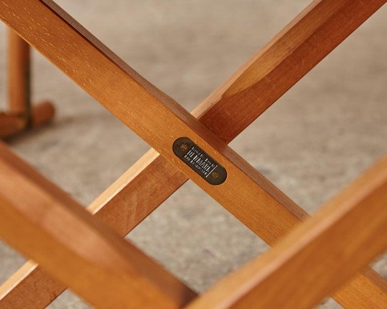 Mogens Koch MK-16 Directors / Safari Chairs, Rud Rasmussen, Denmark, 1960s For Sale 7