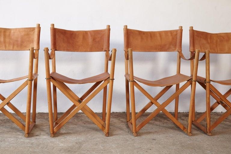 Mogens Koch MK-16 Directors / Safari Chairs, Rud Rasmussen, Denmark, 1960s For Sale 9