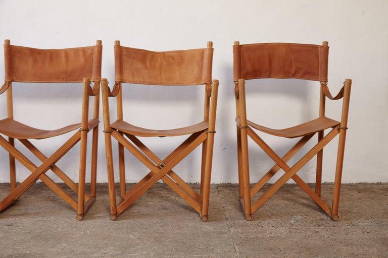 Mogens Koch MK-16 Directors / Safari Chairs, Rud Rasmussen, Denmark, 1960s For Sale 10