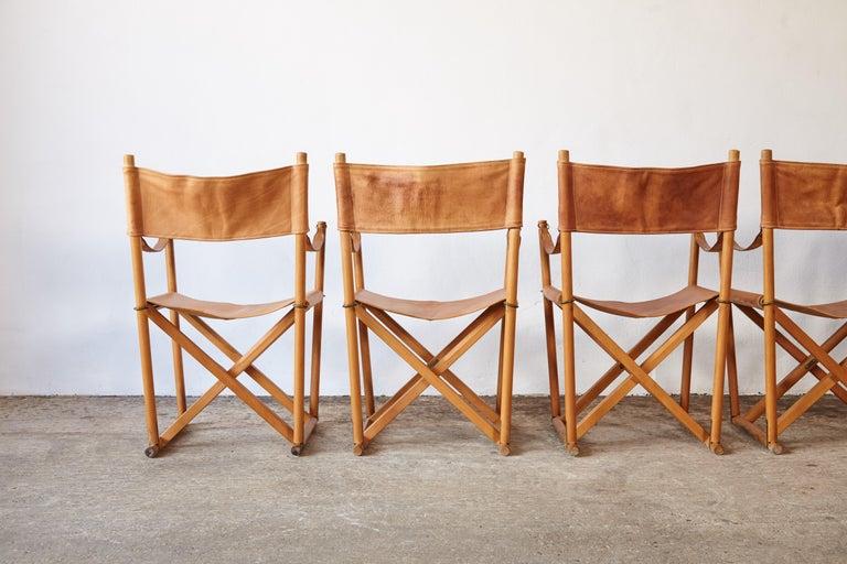 Mogens Koch MK-16 Directors / Safari Chairs, Rud Rasmussen, Denmark, 1960s For Sale 11