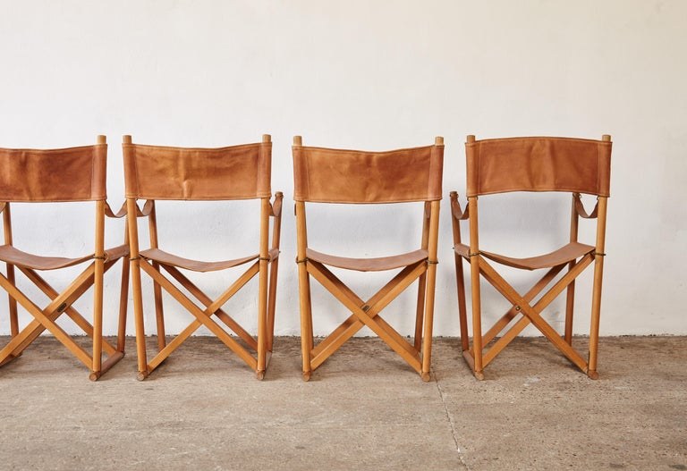Mogens Koch MK-16 Directors / Safari Chairs, Rud Rasmussen, Denmark, 1960s For Sale 12